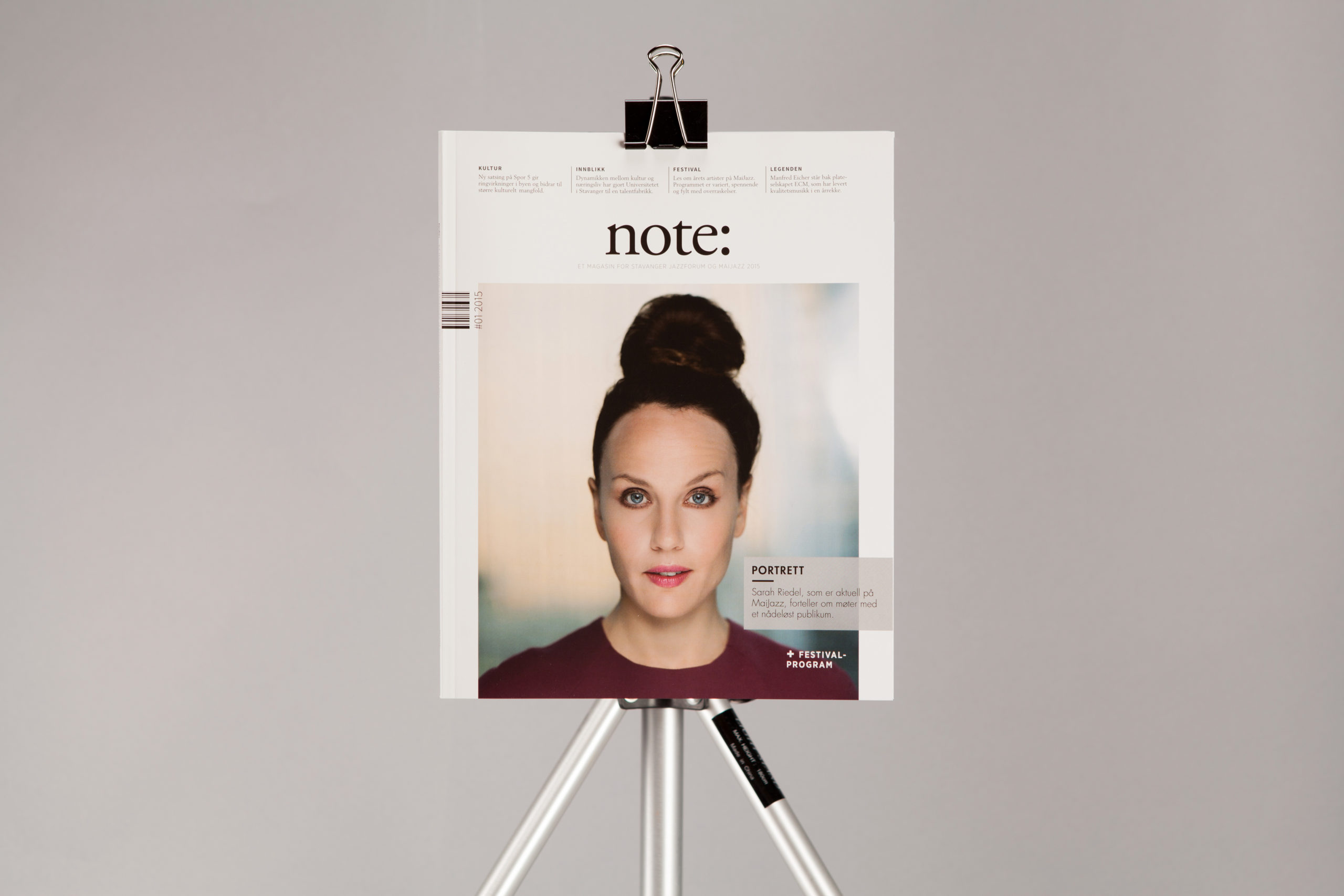 Front page of Note magazine
