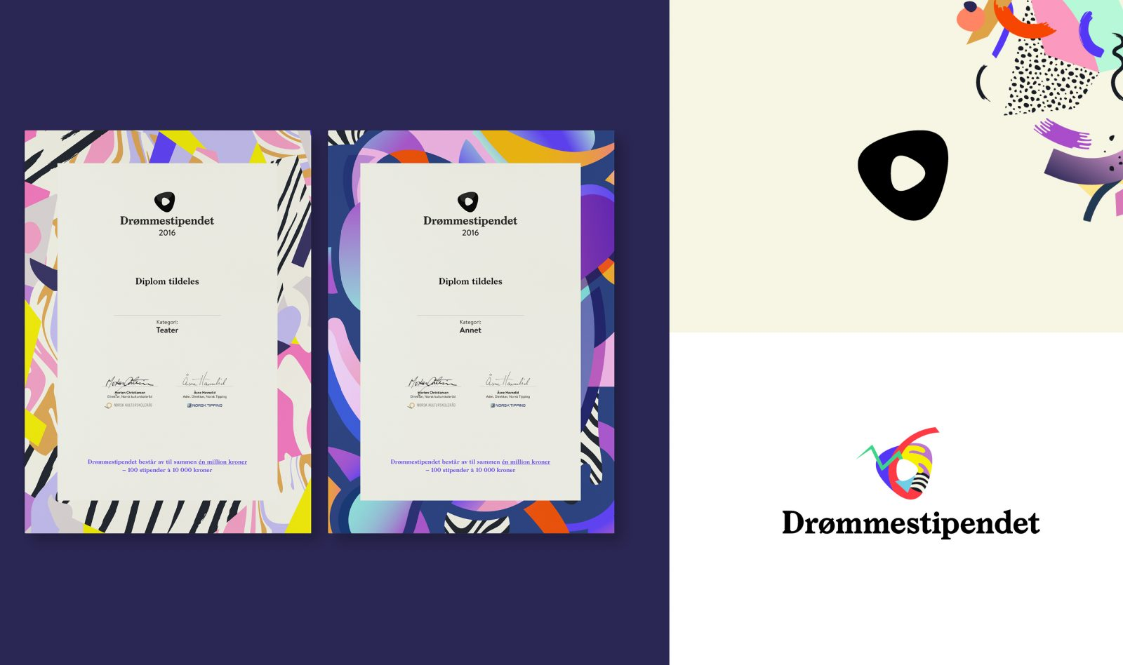 Graphics/branding for Drømmestipendet