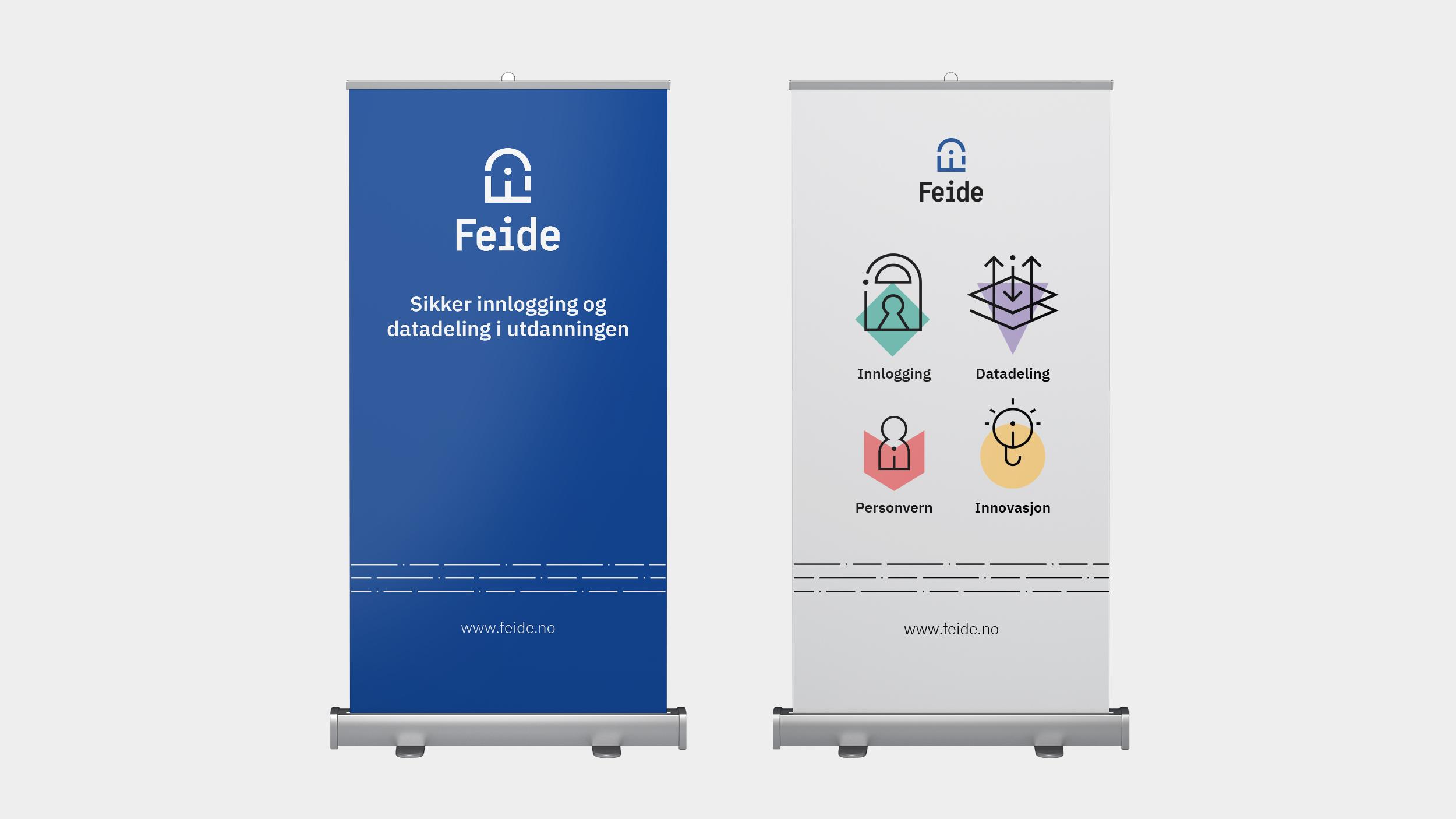 Graphics/branding for Feide – rollups