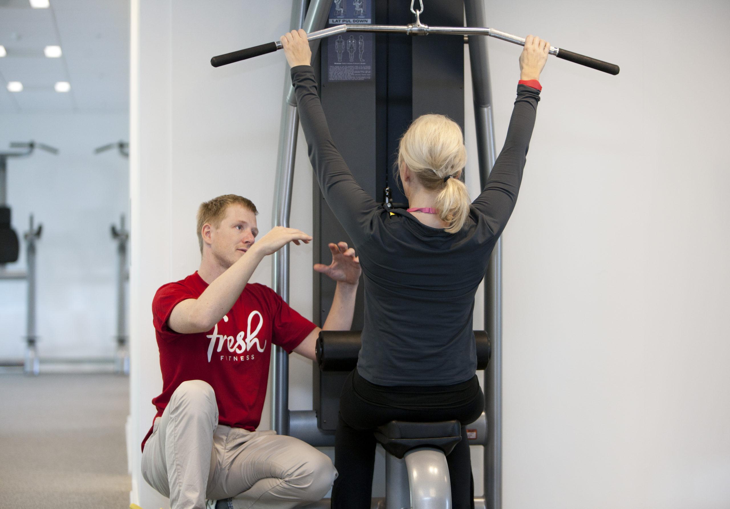 PT hos Fresh fitness med kunde