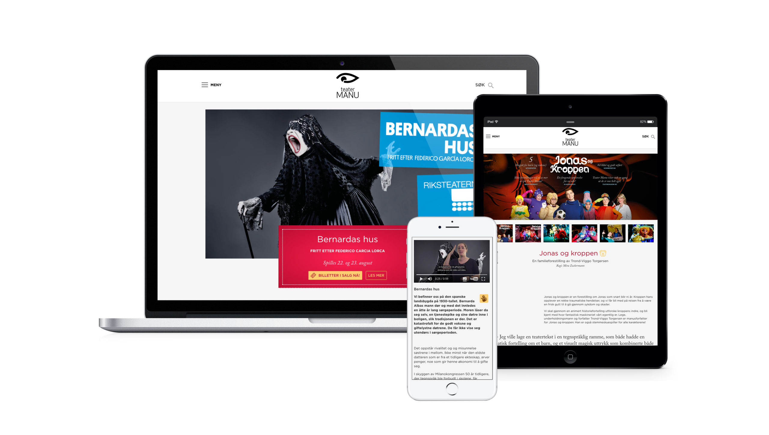 Screens from Teater Manu's website