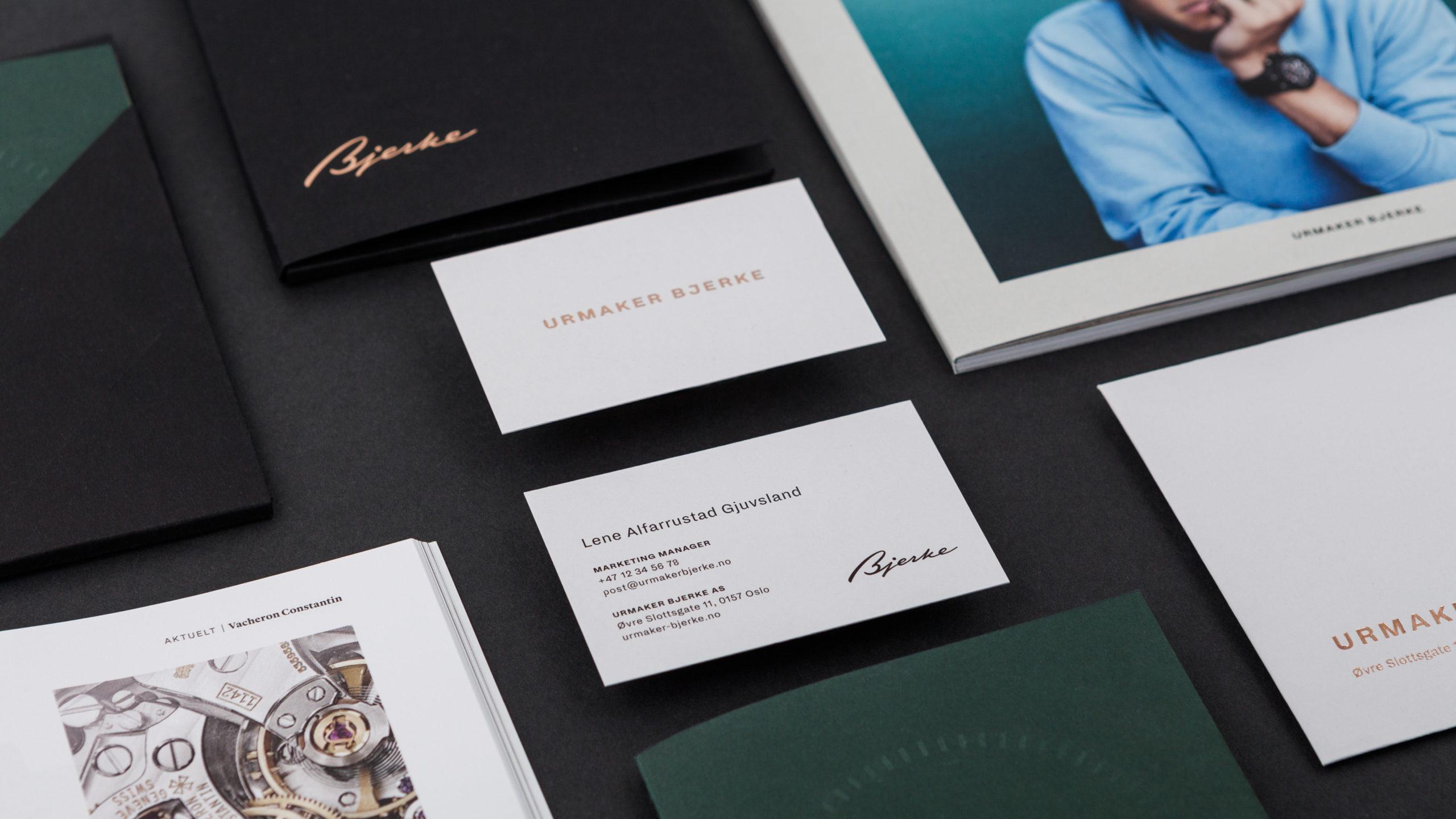 graphics/branding for Urmaker Bjerke